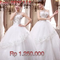 baju/gaun pengantin baru import wedding gown putih murah