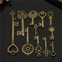 12pcs Vintage Pendants kunci antik / kuno / untuk gantungan / kalung