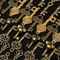 harga 49pcs Vintage Pendants kunci antik / kuno / untuk gantungan / kalung Tokopedia.com