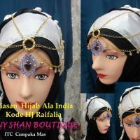 Hiasan Hijab ala india kode Raifalia