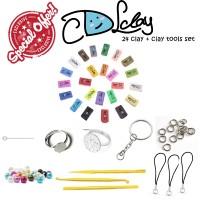 Cdl Clay Big Box Set Isi 24 Clay And Tools - Air Dry Clay - Bahan Clay