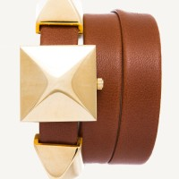 La Mer Collections Brown Gold Cairo Pyramid Wrap