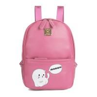 bp430 tas ransel / backpack korea best quality leather (pink)