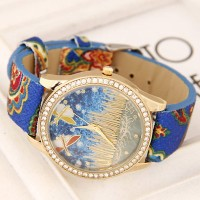 Jam Tangan diamond decorated dragonfly pattern design