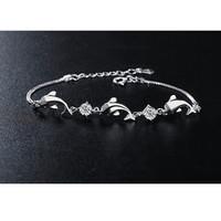 BRACELET 03 DOLPHIN WHITE - Gelang Lumba Lumba Fashion Import