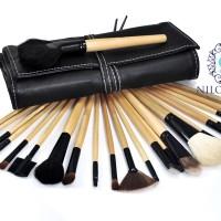 24Pcs Professional Makeup Cosmetic Brush Set Kit Tool + Roll Up Case