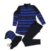 Baju Renang Anak Muslimah / Muslim Swimwear Motif Pattern Set Hijab