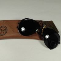 KacaMata Sunglasses RayBan BL USA Aviator Black ORIGINAL SIZE 62