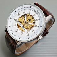 harga Jam Tangan Pria / Cowok Rolex Skeleton Omega Leather Brown Tokopedia.com