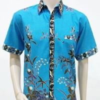 Kemeja / Hem / Atasan / Baju / Seragam Pria Batik 1099 Biru BIG SIZE