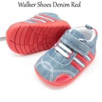 harga Walker baby kids boy shoes denim red sepatu anak bayi cowok sol karet Tokopedia.com