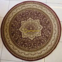 harga Karpet Permadani Turki - 3027 Round (Merah) Tokopedia.com