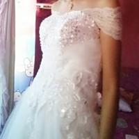 BAJU DRESS KEBAYA BROKAT BRUKAT BORDIR TILE 3D WEDDING WISUDA PREWED