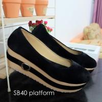 Jual Sepatu Platform Wanita SB40 / Platform Shoes Basic Murah
