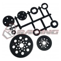 SAK-D408 Rc Car 3 Racing PULLEY SET FOR D4 Drift Touring