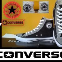 SEPATU CONVERSE ALL STAR HIGH HITAM MOTIF DENIM + BOX GRADE ORIGINAL