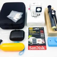 Paket Aksesoris Lengkap Yi 2 4K - Waterproof Monopod Original
