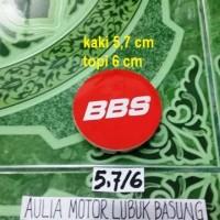 harga dop center / roda velg bbs merah nyala model racing kaki 5,7 cm (1buah Tokopedia.com
