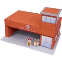 DIY Papercraft Craftown Stasiun Pemadam Kebakaran