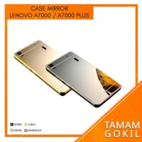 Case Mirror Lenovo A7000 A 7000 Alumunium Metal Bumper Mirror Backcase