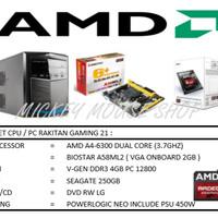 PAKET CPU / PC RAKITAN GAMING 21 /AMD A4-6300(3.7 GHZ)/ RAM 4GB