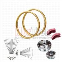 harga Paket Variasi Velg Pelek Rim Ring Jari 17 Lebar PCX TDR Gold Tokopedia.com