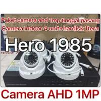 rekaman cctv AHD 1MP 4ch+hardisk 1tera tinggal pasang