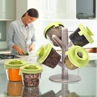 Pop Up Spice Rack Tempat Bumbu Wadah Alat Dapur Simpan Praktis Unik B