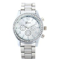 jam tangan wanita geneva silver
