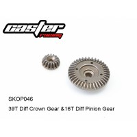 SKOP046 Caster Racing 1/10 39T DIFF CROWN&16T DIFF PINION GEAR SCT10