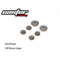 SKOP049 Rc Car Caster Racing 1/10 DIFF BEVEL GEAR 14T&10T SCT10