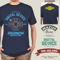 harga Kaos Anime Digivice Digimon Tokopedia.com