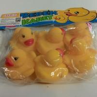 mainan mandi bebek karet anak si kecil bunyi bebekan spa duck bath