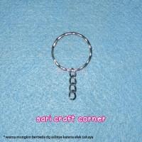 harga per 144pcs - Bahan Gantungan Kunci 2.5cm tanpa Ring -  Key Chain Tokopedia.com