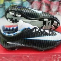 sepatu Bola Nike Mercurial Finale hitam putih KW Super (soccer,bola)