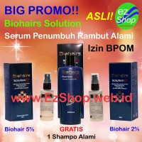 Paket Bio Hairs Solution Free Shampo Asli Ez Shop (Bio Hair Solutions)