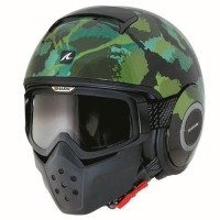 Helm Shark Raw Kurtz Black Green Army Doff Doft Half Full Original