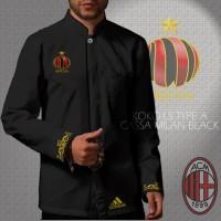 Kemeja Koko LS / Lengan Panjang AC Milan Type A Black