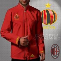 Kemeja Koko LS / Lengan Panjang Type A AC Milan Red