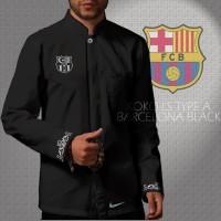 Kemeja Koko LS / Lengan Panjang Barcelona Type A Black