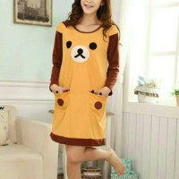 Baju Tidur Bear / Stelan Tidur Wanita / Dress Tidur Perempuan