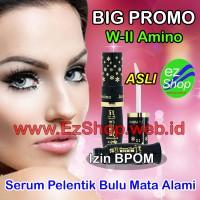 W-II Amino 1 Botol Serum Pelentik Bulu Alis Mata Alami Asli Ez Shop