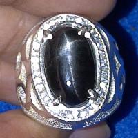 Cincin Batu Black Star Diopside