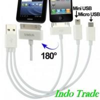 USB 2.0 To IPhone 30 Pin / Samsung Galaxy Tab 30 Pin + Micro USB