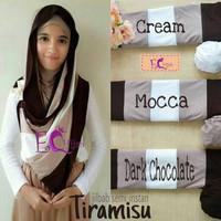 Fashion Hijab Jilbab PREMIUM Pashmina Semi Instan Tiramisu 9D7T