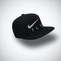 topi snapback NIKE FLY warna hitam