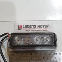 harga LED-04F Strobo Tempel 4 Mata 18 Mode Panjang 10cm Lampu Motor Mobil Tokopedia.com