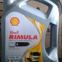 Oli Shell RIMULA R4 SAE 15W/40 Galon 5 Liter