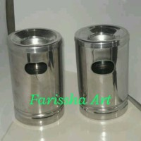 Tong Sampah Mini / Asbak Miniatur Model Tong sampah Stainless