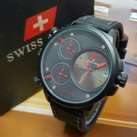 Jam Tangan Pria Swiss Army Triple Time / Jam Swiss Army